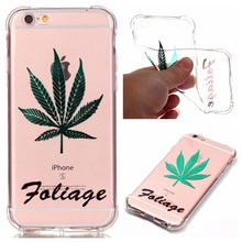 for iPhone 6 s/6 4.7-inch TPU Cover Shell Lacquer / Gilding TPU Skin Phone Case Mobile Phone Bag for iPhone 6s/6 – Foliage