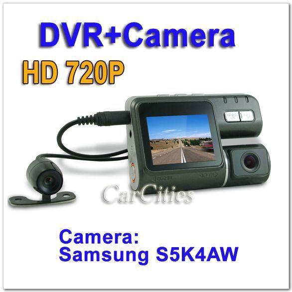 HD720P Ultra ca DVR Clear Camera with back view camera,G-sensor,Camera:Samsung S5K4AW 1.2million pixel COMS