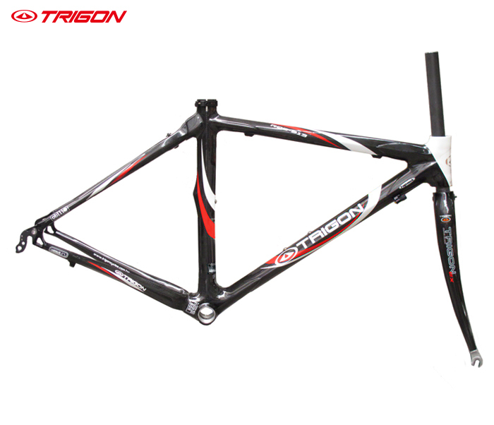 TRIGON RQC913 carbon fiber ultra light 700c road bike bicycle frame frameset include seatpost seat post - Cycleworld store