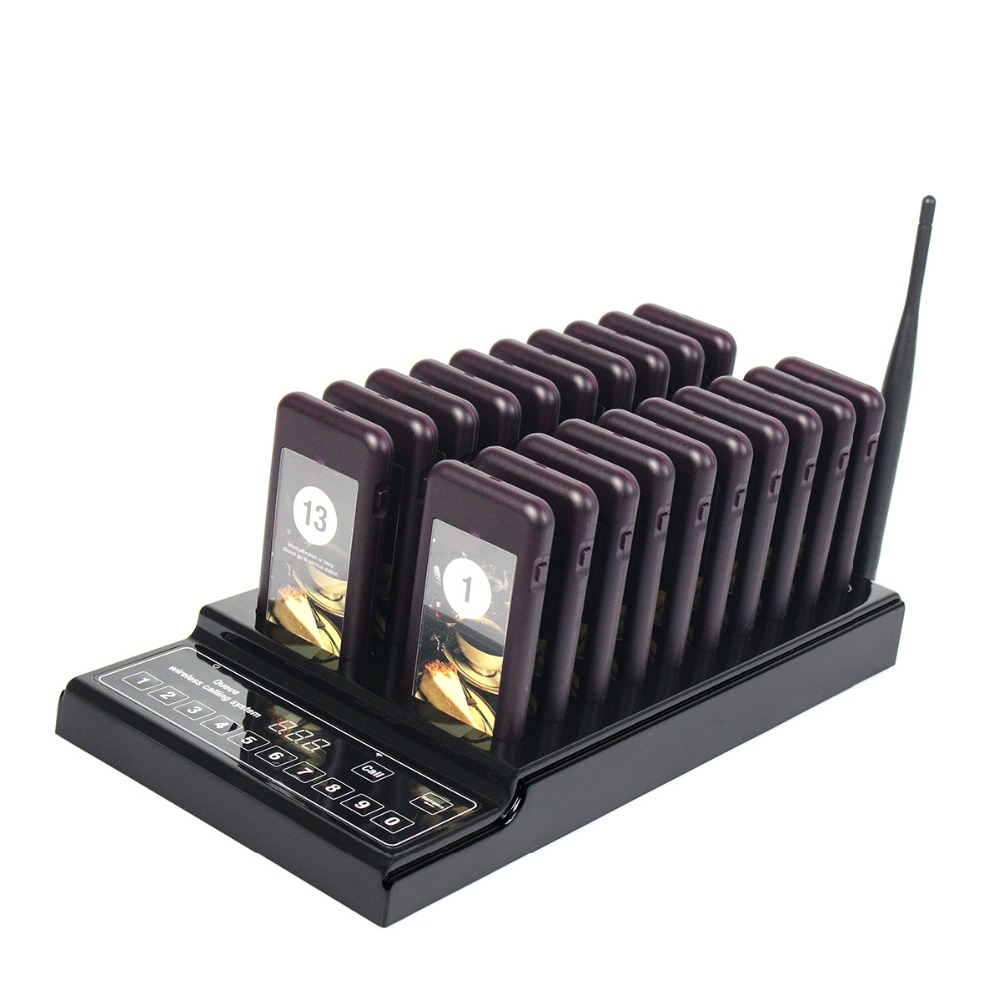 20 Call Coaster Pagers Restaurant Wireless Paging Queuing System Call Button 999 Channel F4426A(China (Mainland))