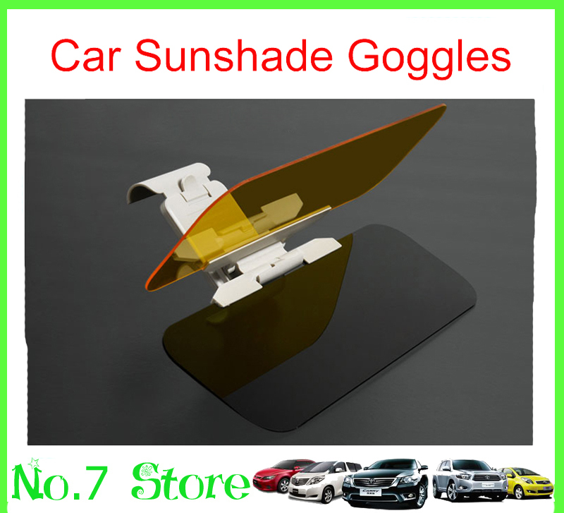 10pcs 2014 Newest Car Sunshade Goggles Auto Sunglasses Shield Flip Cover Sun Visor Clip Night