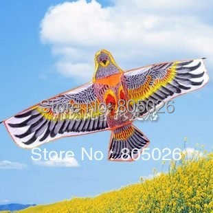 high quality small bordure steel eagle kite 20pcs/lot wholesale store nylon ripstop with handle and line low price wei kite(China (Mainland))