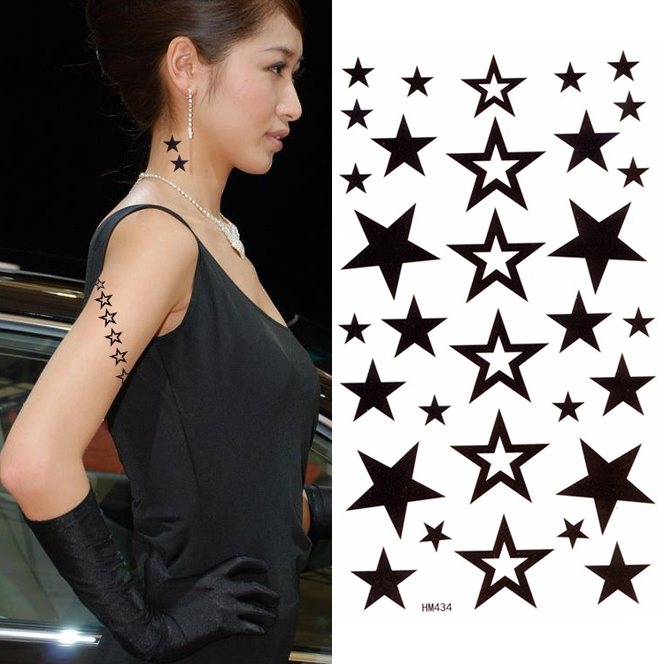 Women sex products fake temporary tattoo stickers for Fake neck tattoo