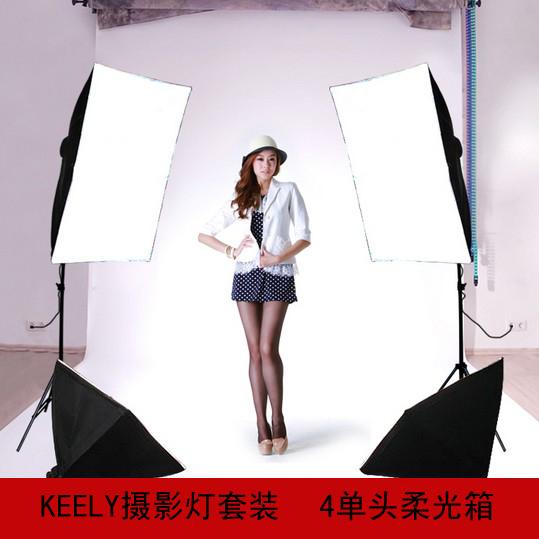 light softbox softbox video lighting Photography light set studio set fout light stand set single lamp holder photo set CD50(China (Mainland))