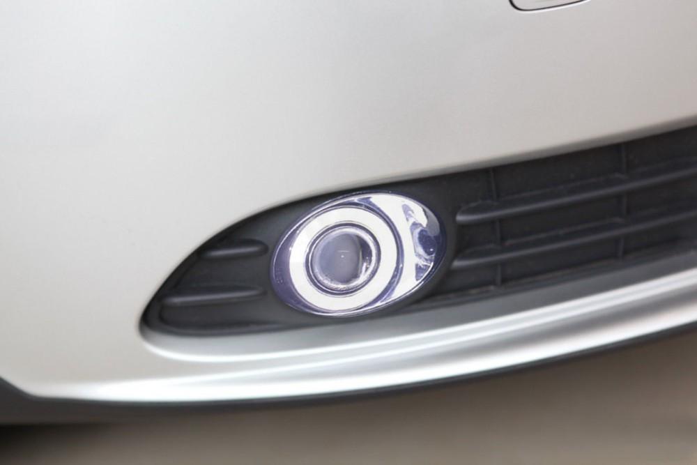 eOsuns Innovative COB angel eye led daytime running light DRL + halo Fog lamp + Projector Lens for volvo s40(China (Mainland))