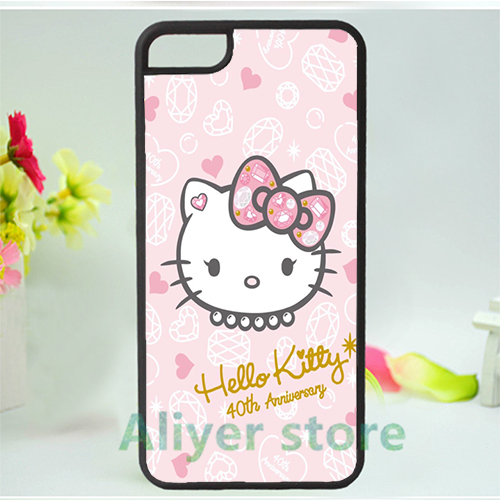 hello kitty sanrio 17 mobile phone case cover for iphone 4 4s 5 5s 5c SE 6 6s & 6 plus 6s plus *vf356(China (Mainland))