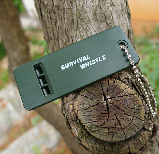 Aluminum Emergency Keychain Camping Hiking Sports Outdoor Survival Whistle Key Ring Keyfob RECOMMEND to BUY(China (Mainland))