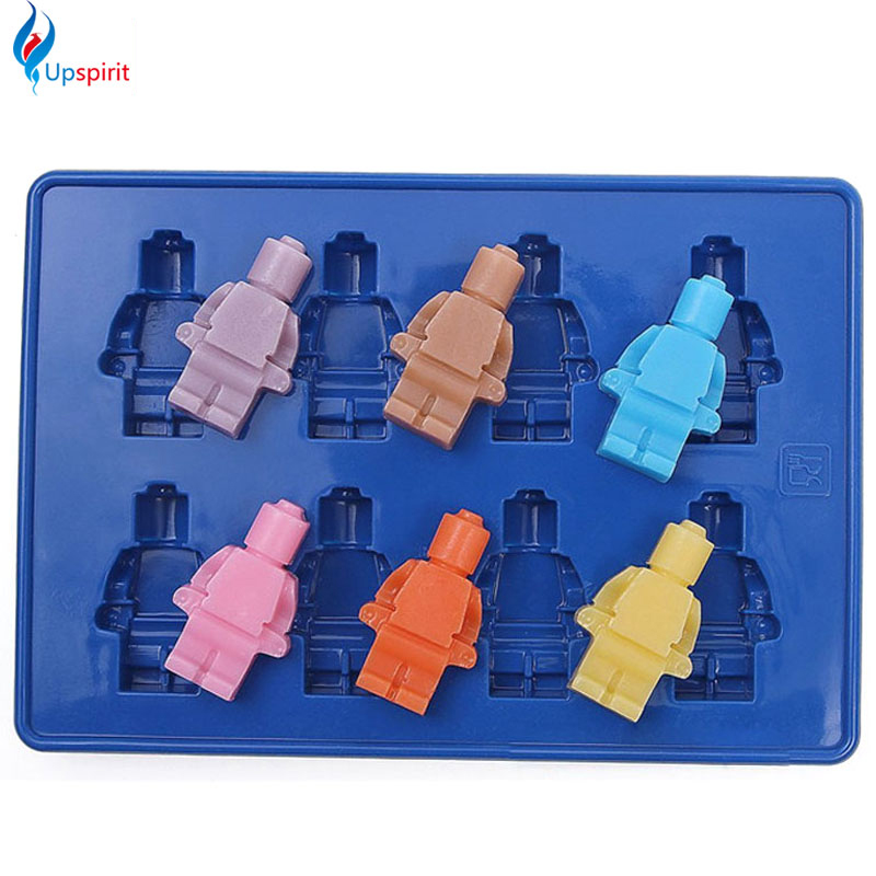 New Fondant Tools Robot Silicone Mould Cake Ice Chocolate Molds Bakeware Baking Tools For Cake Decorating Ice Cube Soap Mold(China (Mainland))