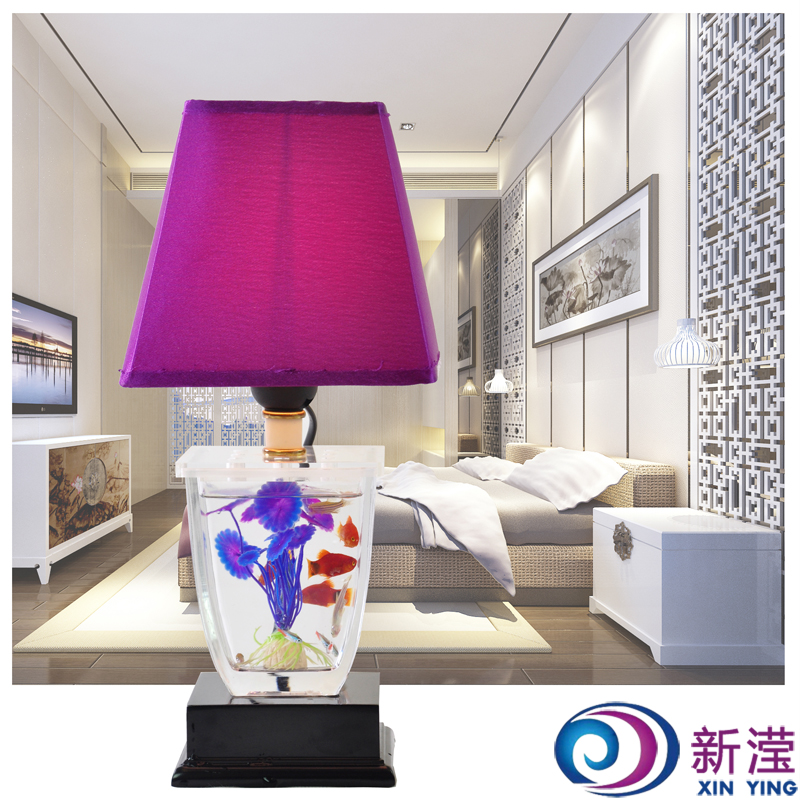 Fish tank table lamp modern decoration lamp living room lights bedroom