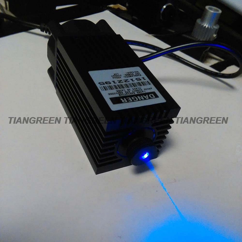 DC12V Laser Module Focusable 2W/2000mW 445nm/450nm Blue Diode Laser for mini laser engraving laser cutter cnc laser diy(China (Mainland))