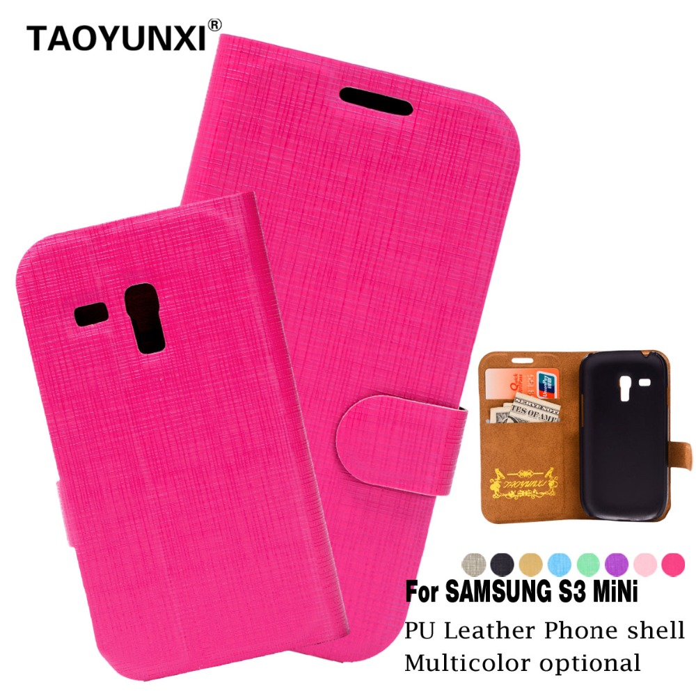 For Samsung S3 Mini Case ,Luxury PU Flip Leather Case For Samsung Galaxy S3 Mini S3mini i8190 With Credit Card Holder Phone Bags(China (Mainland))