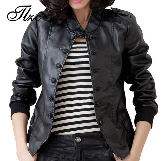 Простой дизайн женщины мода куртки большого размера м-5xl кнопка украшения тонкой ...