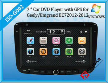 Two Din 7 Inch Car DVD Player For Geely/Emgrand/EC7 With 3G Host Radio GPS Navigation RDS Bluetooth TV 1080P Ipod Free Maps