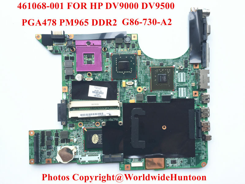 Original laptop Motherboard for HP DV9000 965PM 447982-001 PGA478 DDR3 G86-730-A2 8400GS Fully tested(China (Mainland))