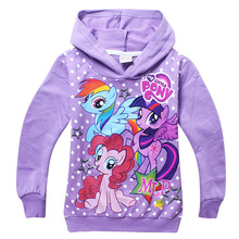 2015 new autumn my little pony girls clothes long sleeve children hoodies kids clothing 4-10age sweatshirts for girls(China (Mainland))