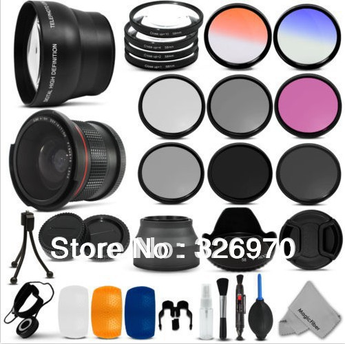 Essential Lens Set &amp; Filter Kit for 58MM Canon EOS 700D 100D free shipping+tracking number<br><br>Aliexpress