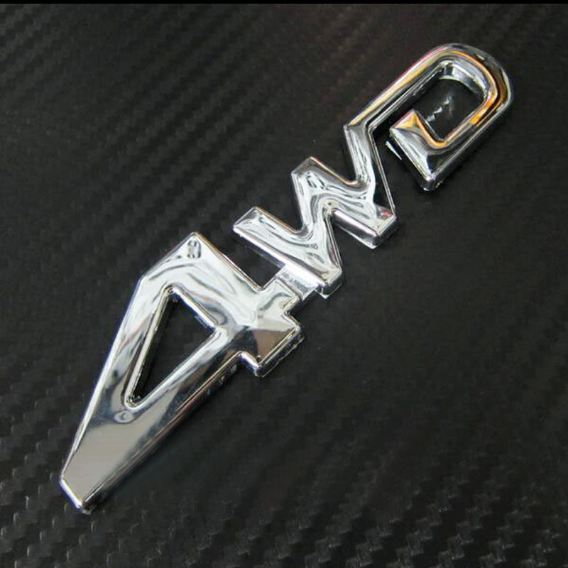Free Shipping Car Rear Side Metal Decal 4wd Emblem Sticker Badge 3D Wheel Drive Auto Sticker