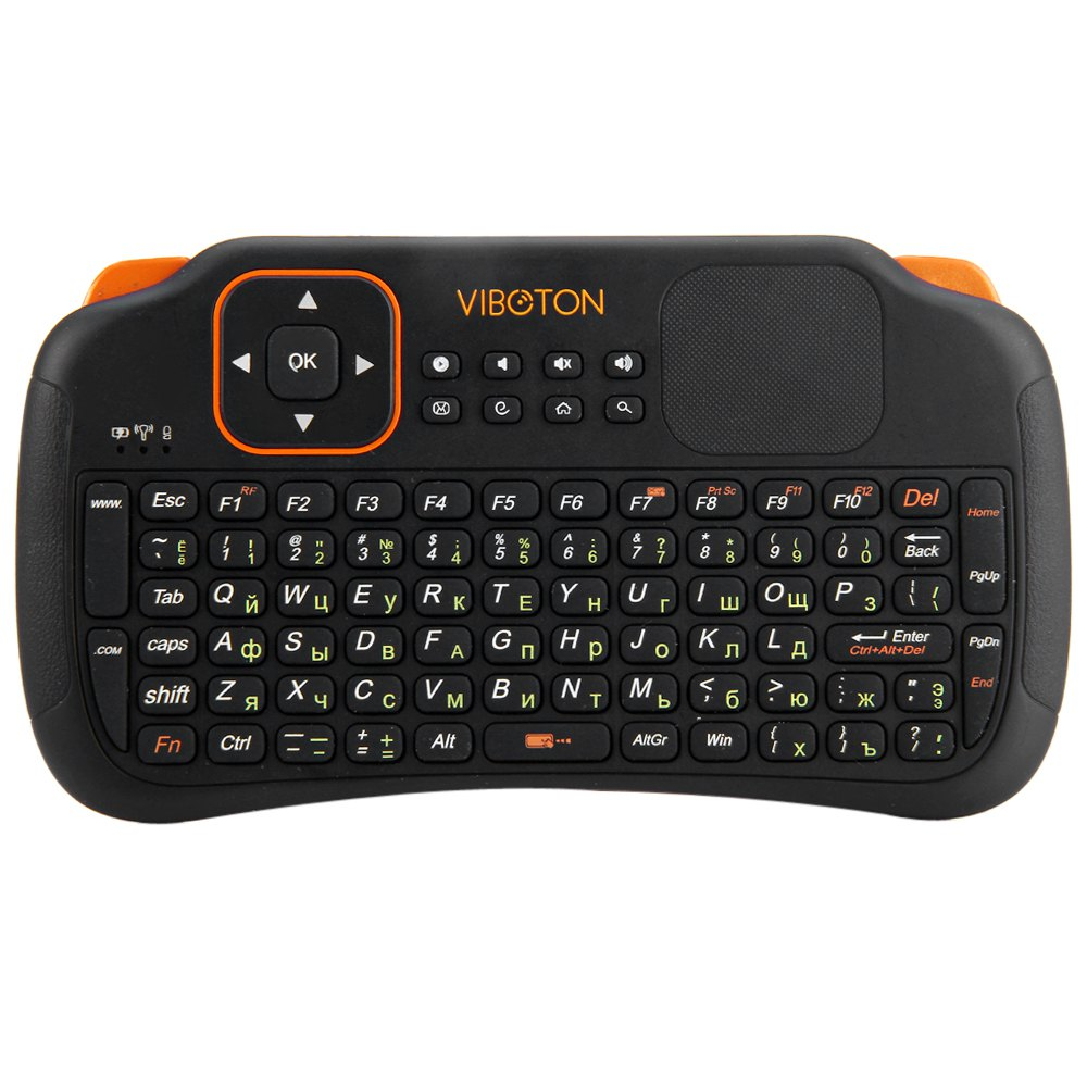 Viboton S1 English Russian 3-in-1 2.4GHz Wireless Keyboard + Air Mouse + Remote Control with Touchpad for Windows Linux(China (Mainland))