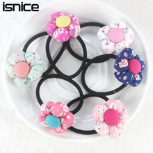 TS New 2015 Pumpkin flowers children Retail wholesale Boutique baby girls hair accessories rubber bands barrettes girl headwear