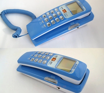 Battery-free Caller ID Phone,Wall hanging Small extension Telephone HCD2968(71)TSD1005