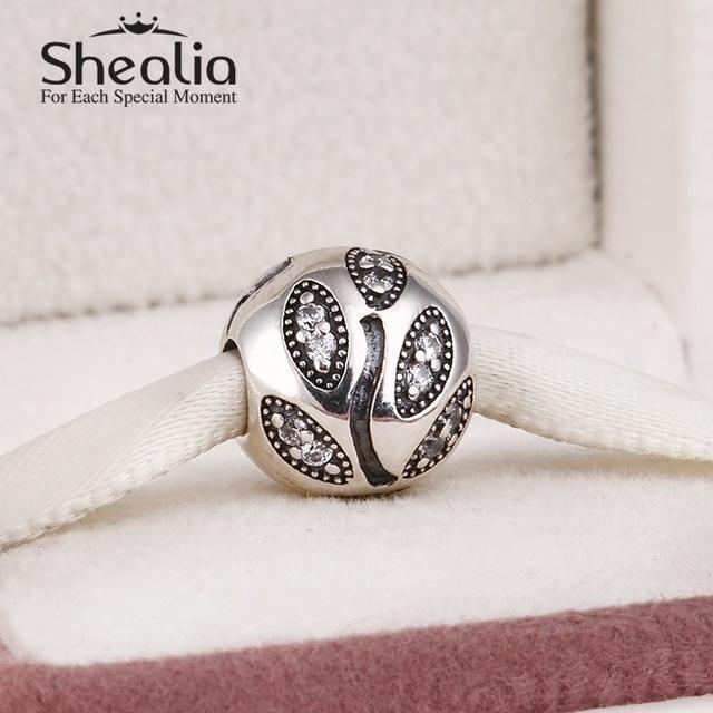 925 чистое серебро листья подвески-талисманы вымощает игристое циркон листья подвески для женщины подходит своими руками браслеты SH0550