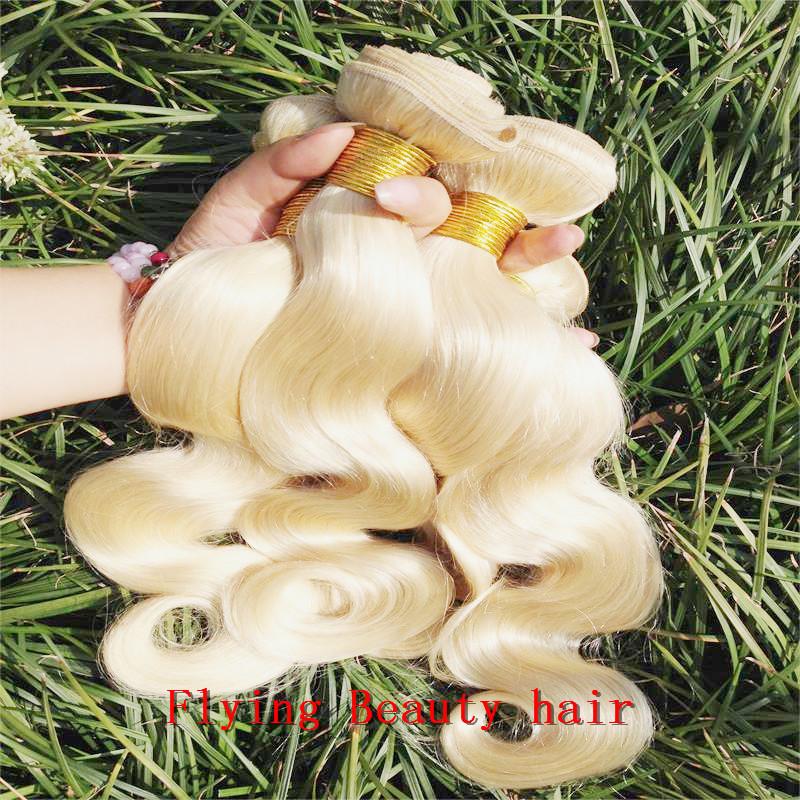 "7A! light blonde 613 color malaysian hair 100% unprocessed hair,Length 8""-32"",No Shedding No Tangle(China (Mainland))"