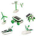 6 in 1 Educational Solar Kit Toy Boat Fan Car Robot Power Moving Dog Children Gifts