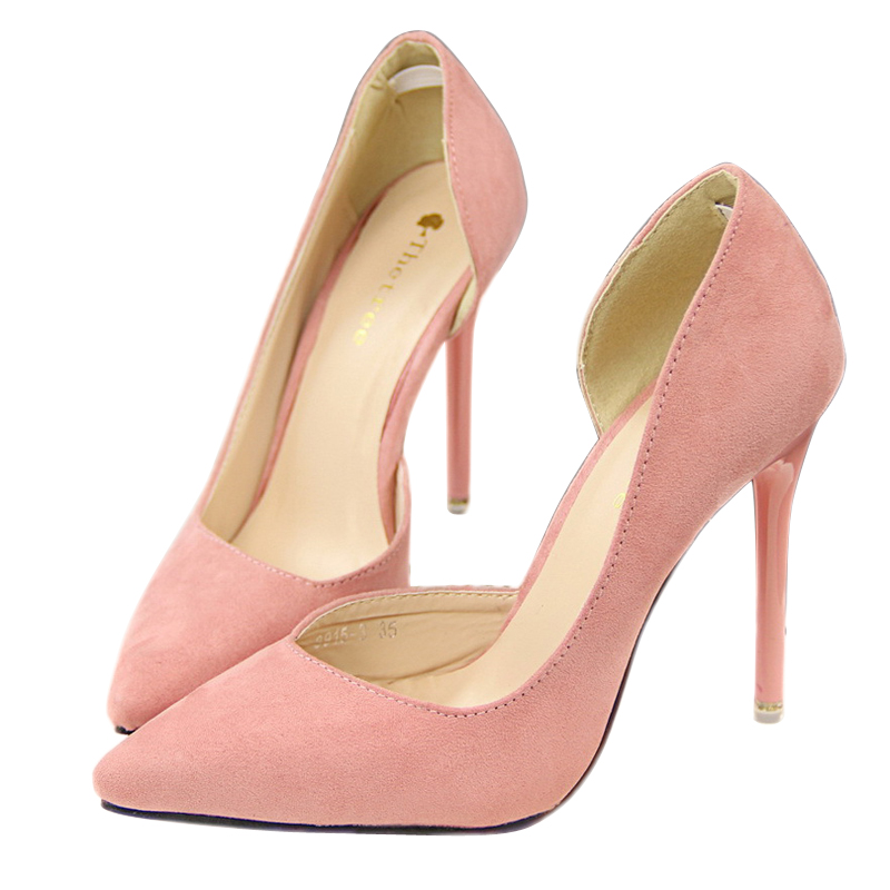 new sexy women pumps red bottom pointed toe high heels shoes woman thin heel pumps zapatos mujer ladies shoes 2016 spring DT178