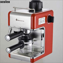 Xeoleo Coffee machine Espresso Coffee maker 4 cups Automatic Italy Espresso Coffee maker Espresso machine