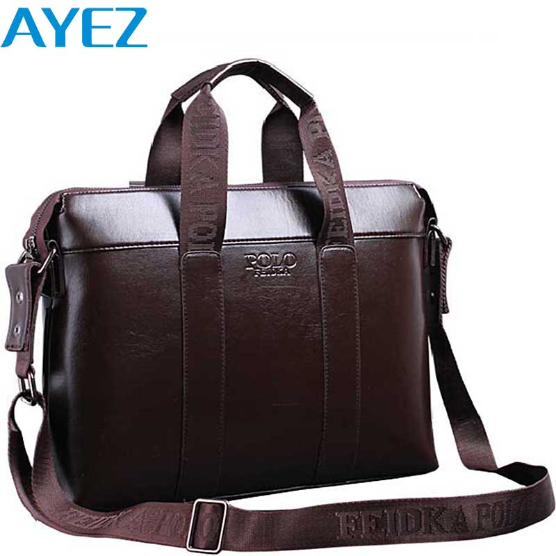 Ayez 2016 men leather bags men messenger bags brands OL business men's travel bags tote bolsas 2016 high quality pouch LM0400yz(China (Mainland))