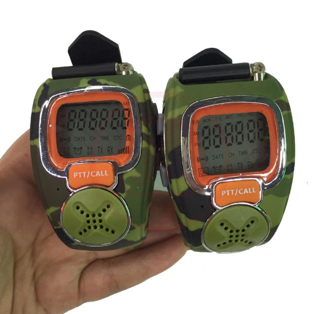 wrist watch walkie talkie mini two way radio talkie walkie Free Talker RD-008B 2 pieces/lot(China (Mainland))