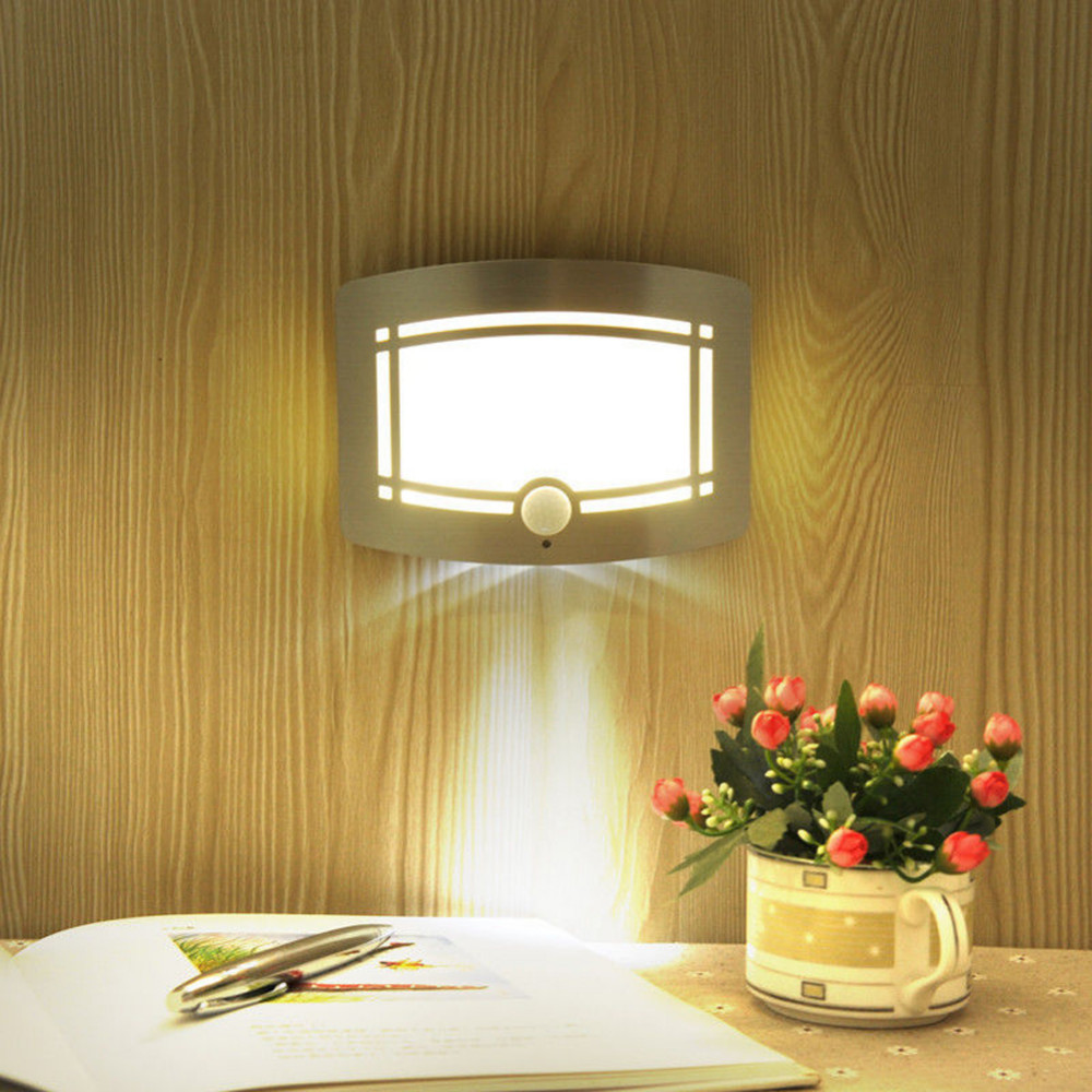 Cordless Indoor Wall Lamps : High Quality 10 LED Motion Sensor Wireless Wall Light Operated Activated Battery Operated Sconce ...