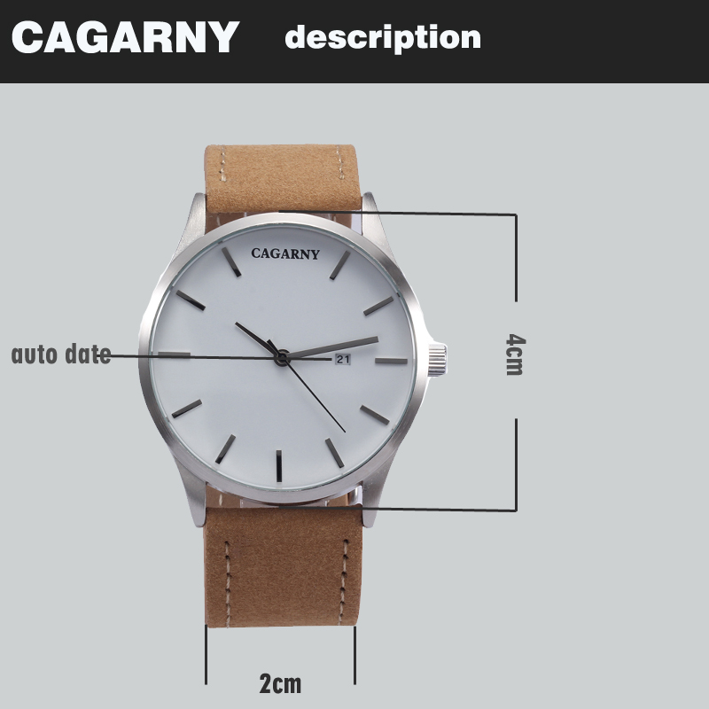 top luxury brand cagarny quartz watches for men watch vogue leather watchband dropshipping  22 (2)
