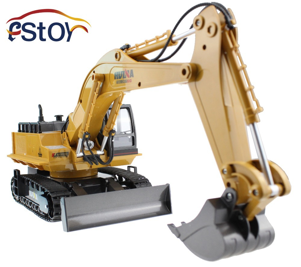 11CH Alloy RC Excavator 11CH Remote Control Engineering Truck Digger Model Electronic toy RC Engineering Car  Excavator Toy Car<br>