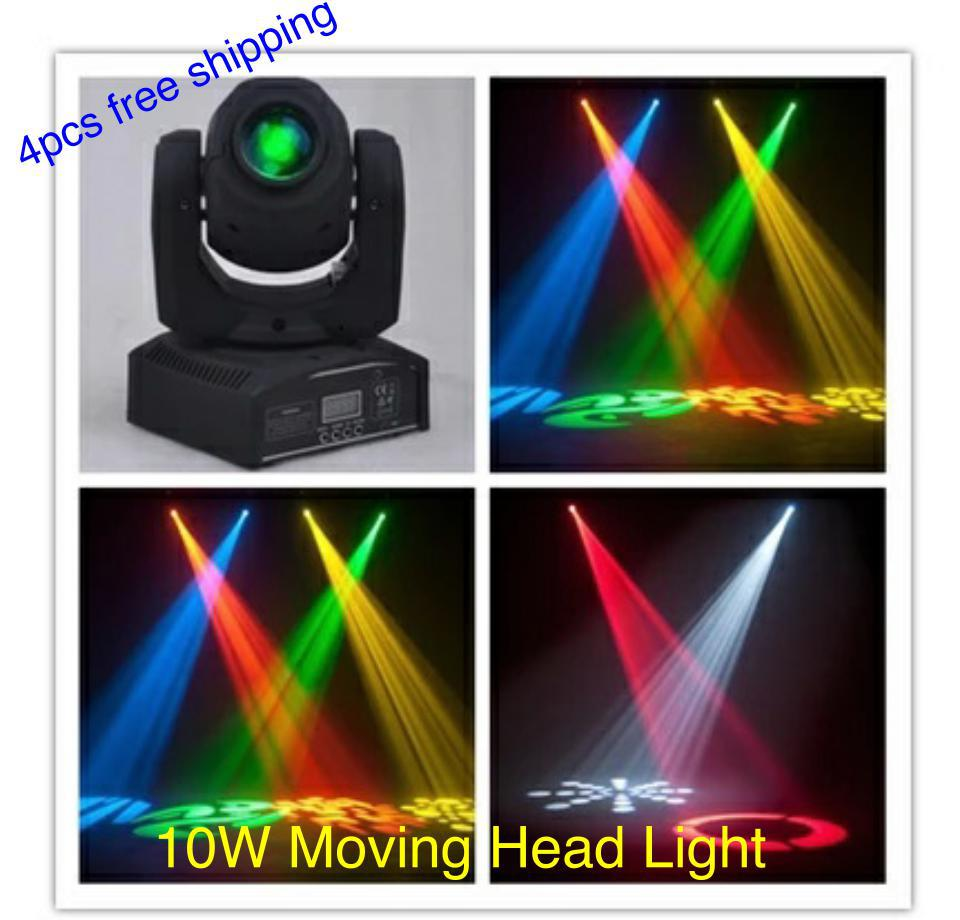 4pcs free shipping, 10W Moving Head Light Gobo Effect Light Mini Moving Head Light DMX 512 Stage equipment<br><br>Aliexpress