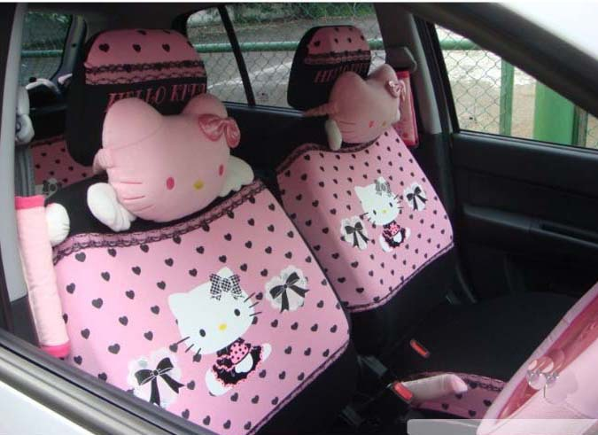 2015 new HELLO KITTY car seat cover four seasons general/express cartoon ( pink) - goodgoods store
