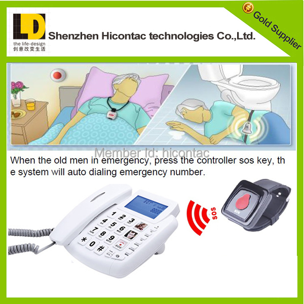 1 Handset Landline Telephone emergency key home phones for elderly people(China (Mainland))