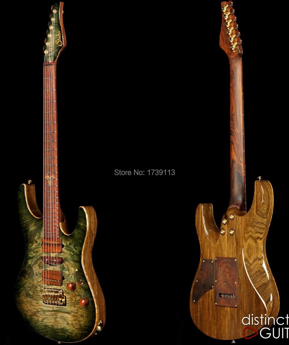 Top Quality Hot Sale Factory Suhr Collection Waterfall Burl Model Electric Guitar Free Shipping(China (Mainland))