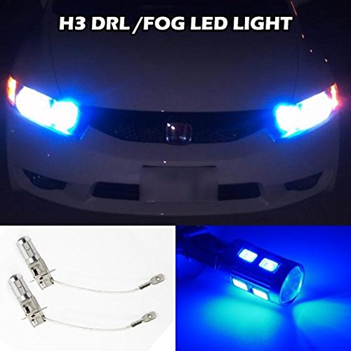 2x H3 Xenon Blue LED 5730 SMD Driving Fog/Car Fog Light Daytime Running Led Bubs for Volkswagen Jeep Infiniti Nissan(China (Mainland))