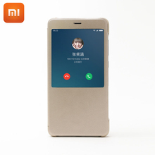 Buy Original Xiaomi Redmi Note4 Case Flip Smart Display Leather Case Cover Xiaomi Mi Hongmi Redmi Note 4 Protective Cases for $9.99 in AliExpress store