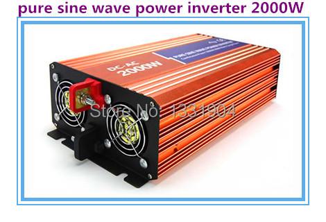 High quality 2000W Pure sine wave inverter 110/220V AC 12/24VDC, PV Solar Inverter, Power inverter, Car Inverter Converter(China (Mainland))