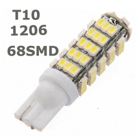 T10 68LED 1206 68 SMD LED Car T10 68smd 1206/3020 W5W 194 927 161 Side Wedge Light Lamp Bulb for License plate lights