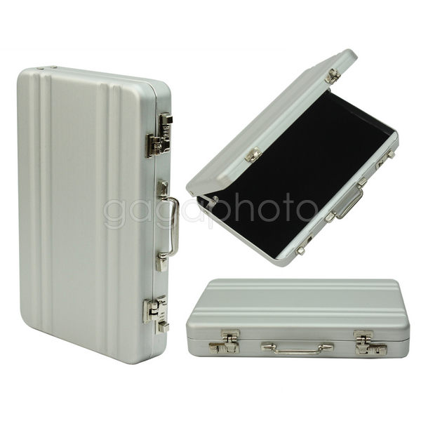 Vogue Exquisite Mini Metal Briefcase Suitcase Business Name Card Case Holder Box(China (Mainland))