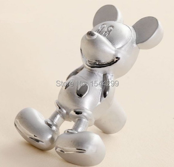 Fashion Silver Mickey Mouse Handles Furniture Kids Cartoon Drawer Knobs and Handles for Kitchen Cabinet Dresser Pulls(China (Mainland))