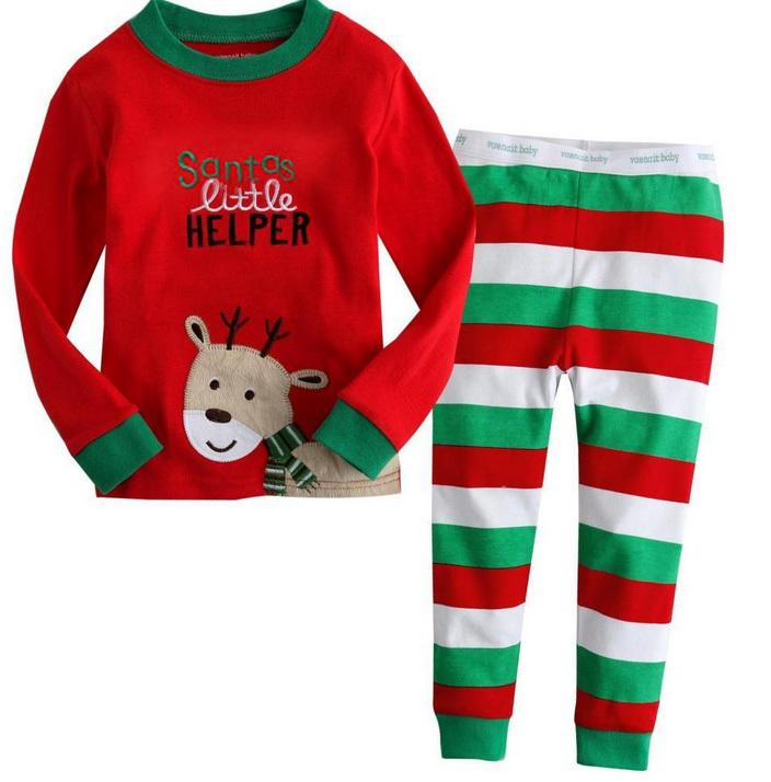 [해외]2015 크리스마스 잠옷 아동 의류 아기 여자 의류 긴 Retail ..
