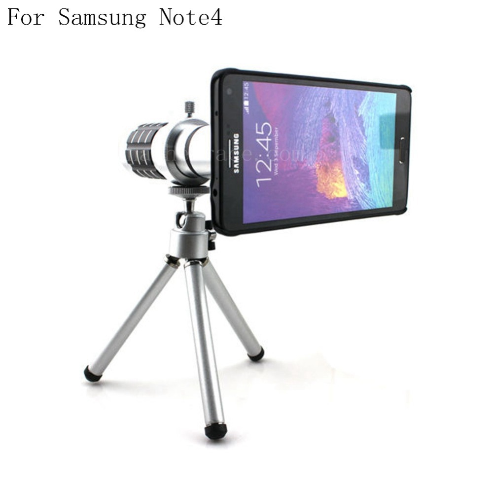 For Samsung Galaxy Note 4 12X Optical Zoom Telescope Camera Lens+Tripod +Back Case Cover Phone 12X Zoom Lens
