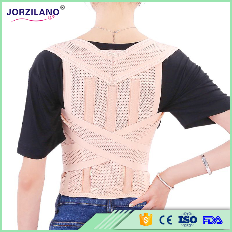 Free shipping Unisex Adjustable Back Posture Corrector Brace Back Shoulder Support Belt Posture Correction Belt for Men Women(China (Mainland))