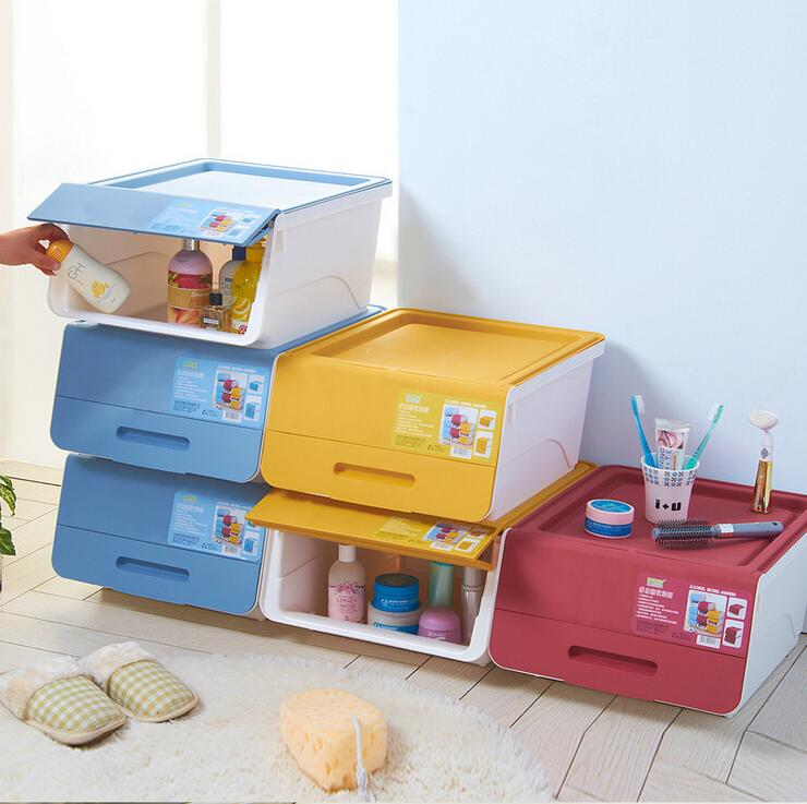 Multifunction Open Front Plastic Storage Box Stackable