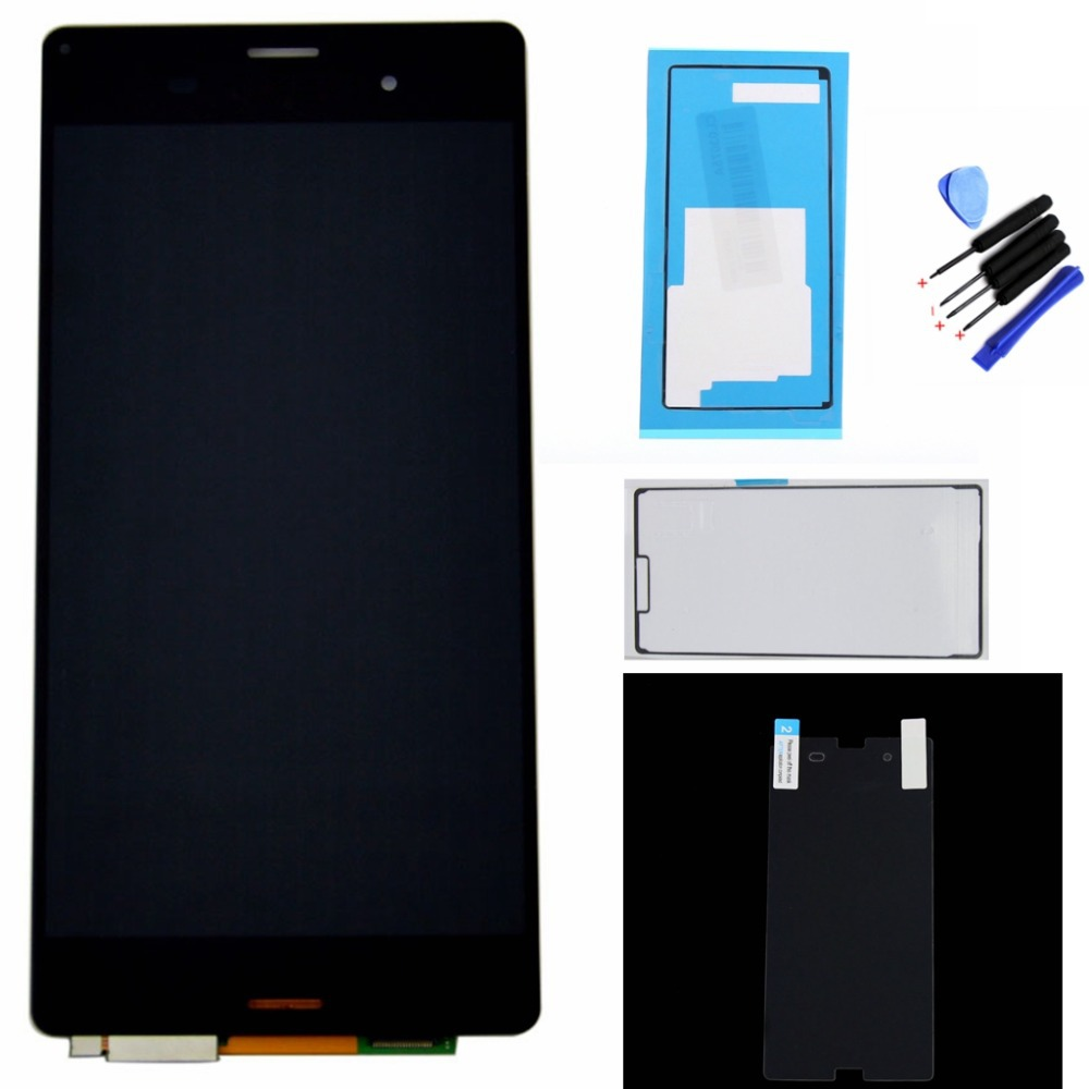 LCD Display + touch screen with digitizer Assembly + Adhesive Tools + Film For Sony xperia z3 D6603 D6653 L55t lcd Free shipping(China (Mainland))