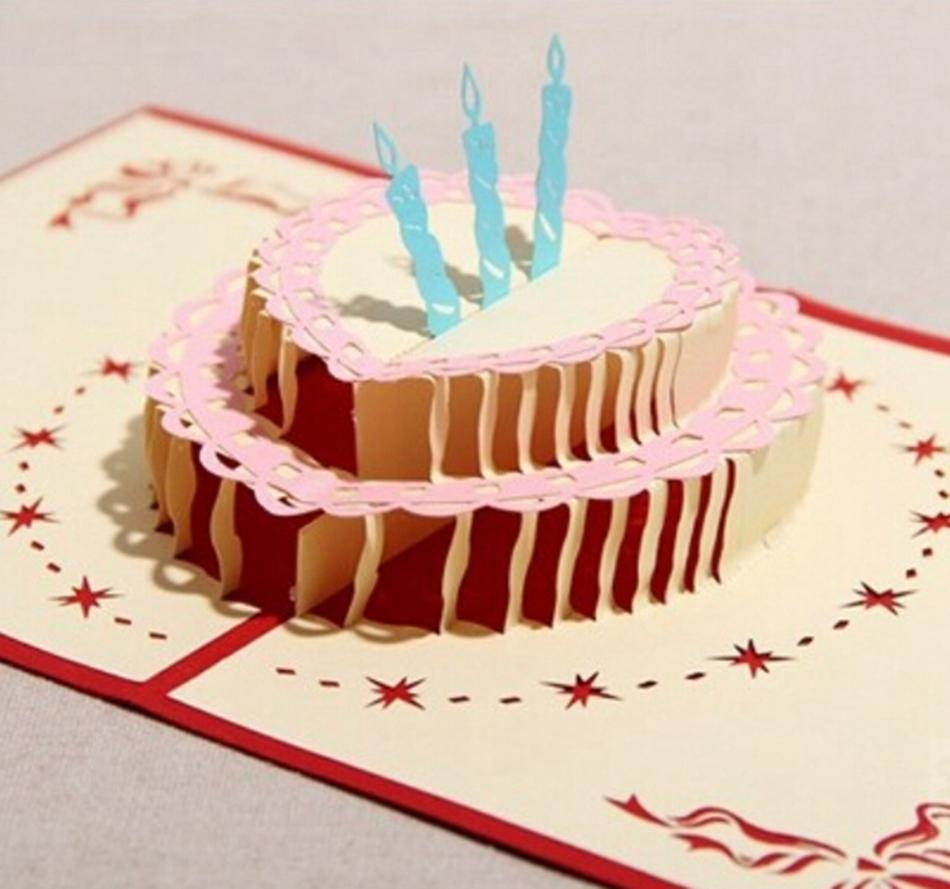 Picture about Kirigami 3D Pop up Card For Kids Birthday Greeting Cards ...